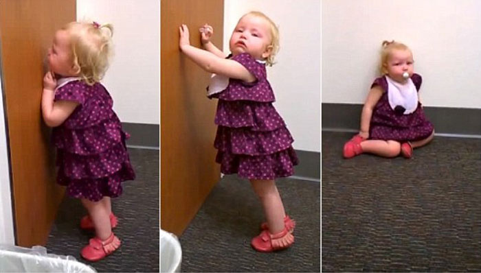 This 2-year-old girl just finds out she has a new baby sister. You gotta see her reaction. Epic!