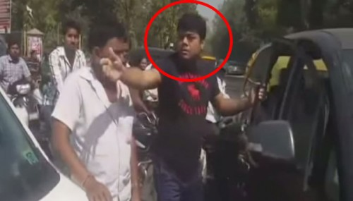 Watch how this man abuses a woman and repeatedly slam his Innova into her car in Ahmedabad