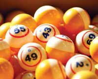 Bingo balls which represent what many people feel about voting. It doesn't matter what they think.