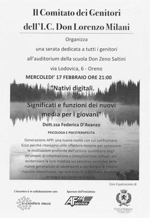 Volantino Nativi digitali 17 febbraio 2016