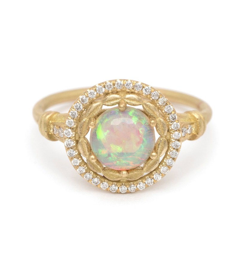Large Of Opal Engagement Rings