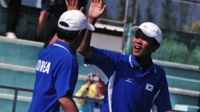 パクチャンソク・キムジェボク。2004アジア選手権(チェンマイ)ダブルスチャンピオン。現在三年生