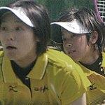 第7回アジア選手権 日本代表選考 女子優勝 上原絵里・阿部悠梨(ナガセケンコー)