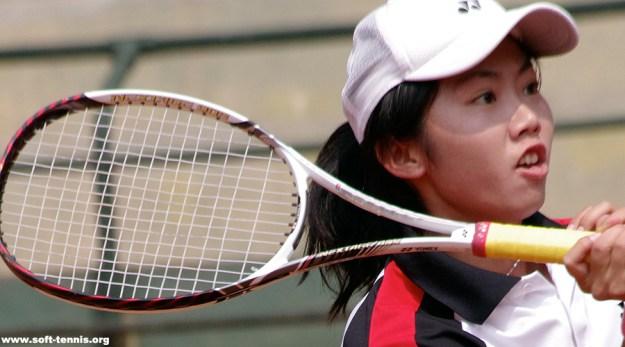 東アジア競技大会 台湾代表選抜戦 女子第二ダブルス決定戦優勝のチェンツウリン(台湾体育大学)。国際大会には5大会連続5度目、東アジアは初出場。