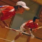 テレビ局によるインタヴューをうける方・張 国際熊本大会2008