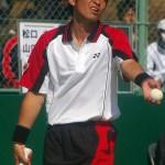 初のベスト4長江光一(NTT西日本広島) 天皇賜杯全日本ソフトテニス選手権