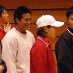 選手による講習会に臨む台湾隊