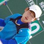 [連続写真]イヨハンのフォアハンド。アジア競技大会韓国代表選抜戦