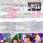 男子ダブルス決勝トーナメント インチョンアジア競技大会リザルト