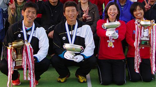 昨年(秋田大会)はNTT西日本広島西日本広島のアベック優勝。左から長江、水澤、大庭、佐々木