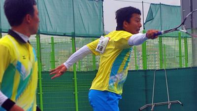 この画像も2012代表選抜より。ペアは2008アジア選手権ダブルスチャンピオンのヤンチンハン。