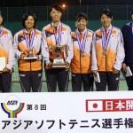 日本女子ワンツースリーで2大会ぶりの5度目の優勝 女子ダブルス全対戦結果 アジアソフトテニス選手権