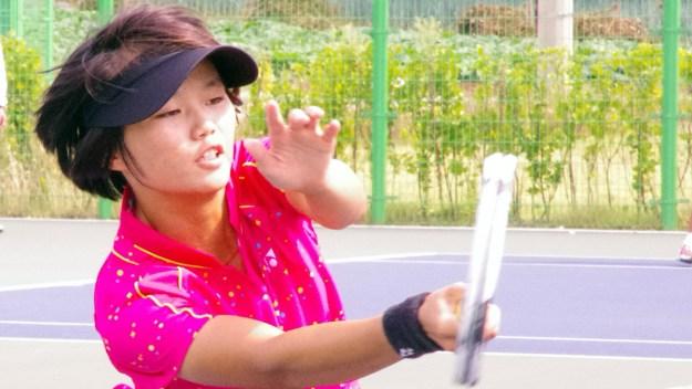 2014年アジア競技大会(インチョン)での詹佳欣。