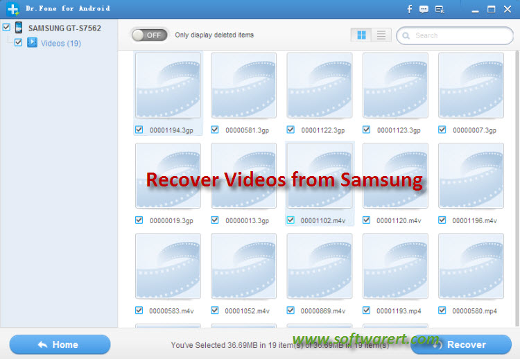 recover videos from samsung smart phone