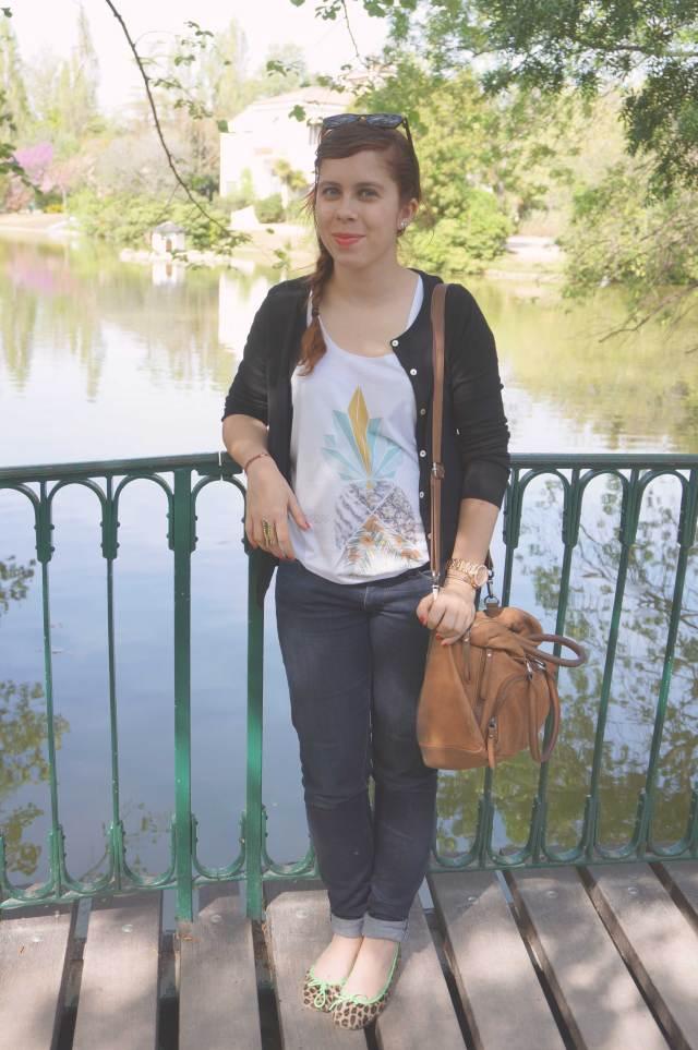 look tee-shirt ananas femme way custom