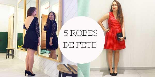 5 robes de fête