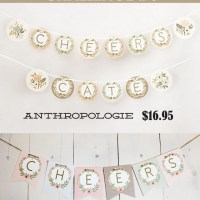 Anthropologie Challenge {Day #6} - Alphabet Free Banner Printable