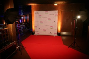 photocall coulisses flashs tapis rouge fond