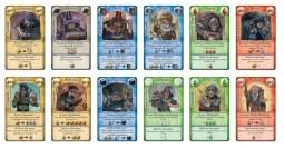 Malédiction - les 12 cartes : 12 magiciens à choisir à chaque manche
