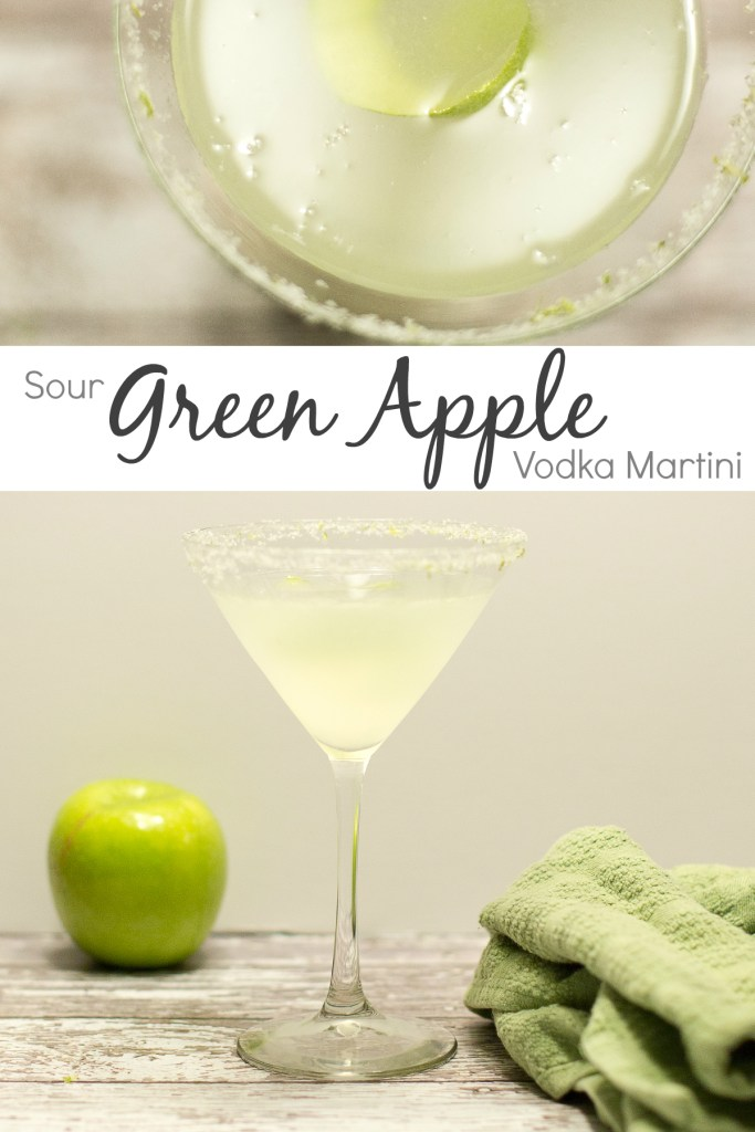 Sour green apple vodka martini so i 39 ve been thinking for Green cocktails with vodka