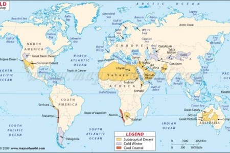 Map of all the deserts in the world deserts of world map 1069 gumiabroncs Choice Image
