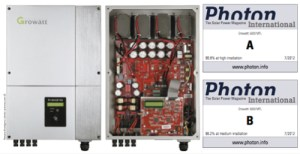 Photon Magazine July 2012 Awarded good marks to the Growatt 5000MTL