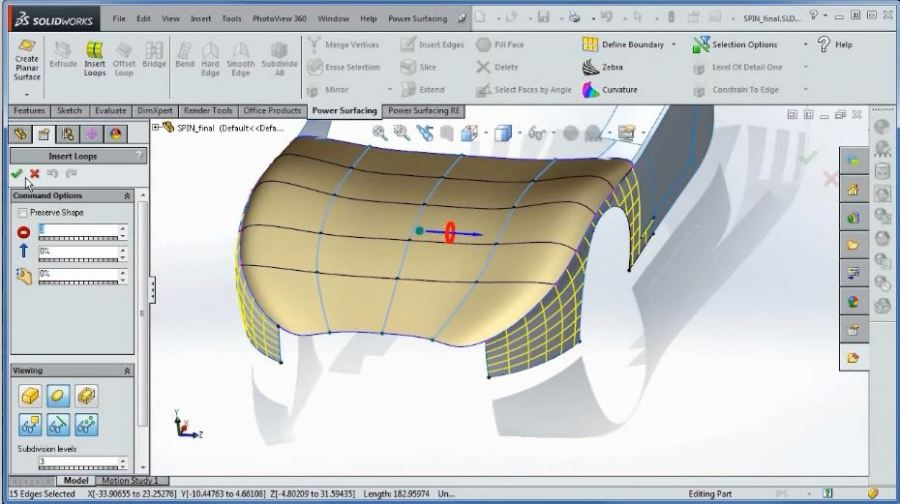 Un-real 3d - SolidWorks Corsi - Power Surfacing for SolidWorks - Freeform Organic Shape for SolidWorks_02