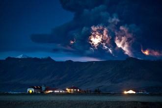 Erupción volcánica en Islandia
