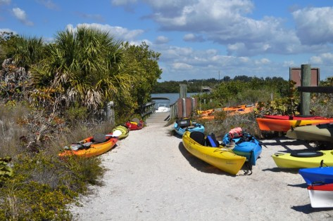 Kayaks at Don Pedro Island State Park, Fla.