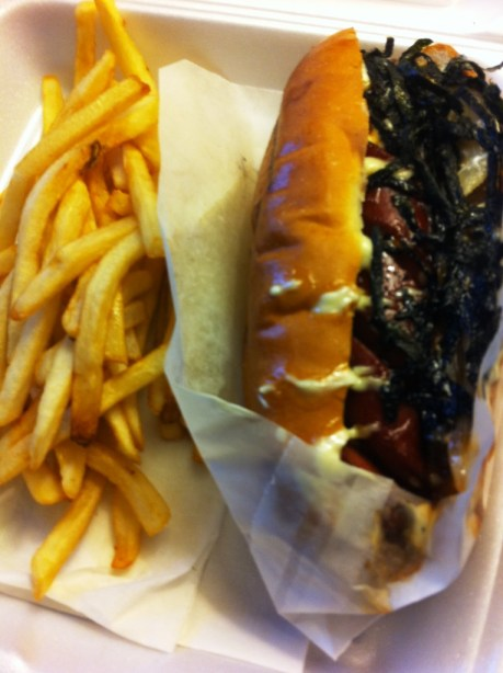 Terimayo Japadog and Fries from Japa Dog on Robson Street, Vancouver, B.C.