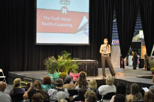 Kasey Trenum of Time2Save Explains the Truth About Couponing During the Naples Daily News Women Today Expo, Oct. 1, 2011
