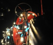 Tractor with Christmas Lights, Buffalo, N.Y., Dec. 2011
