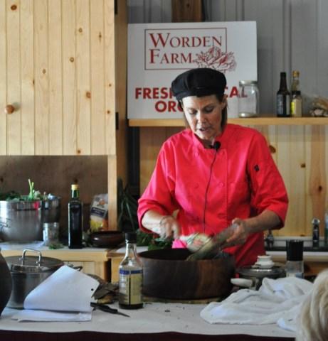 Chef Vicki Chelf Demonstrates 20-Minute Vegan Meals at Worden Farm, Punta Gorda, Fla., March 24, 2012
