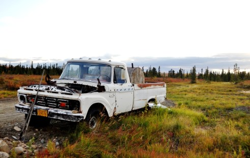 Road Trip Gone Wrong? Truck in Healy, Alaska, Aug. 2011
