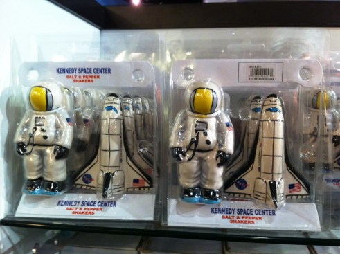 Astronaut and Space Shuttle Salt & Pepper Shakers from the Kennedy Space Center Visitor Complex Space Shop- So Cute!