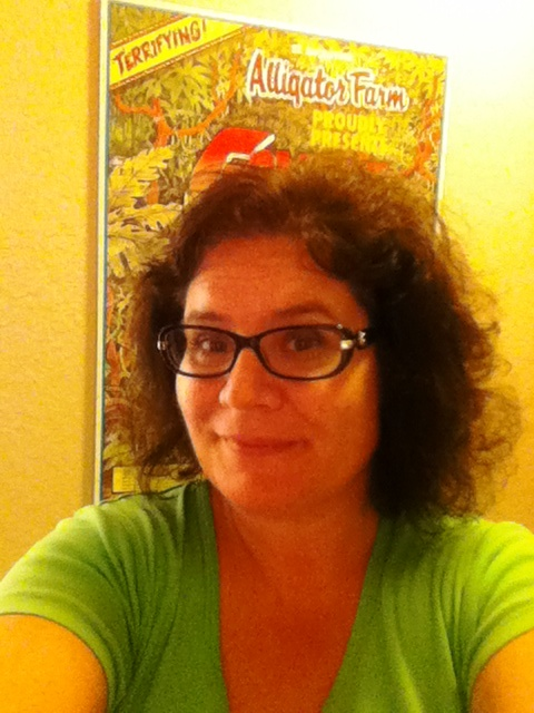 Okay, this isn't the best selfie, but this is 14 hours getting ready for the day. My hair is relatively tame during a Florida July day.