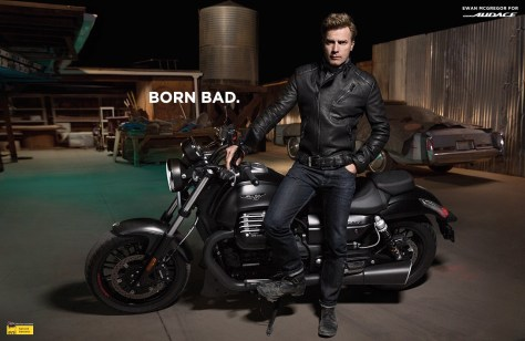 Ewan McGregor pose pour la nouvelle Audace de Moto Guzzi