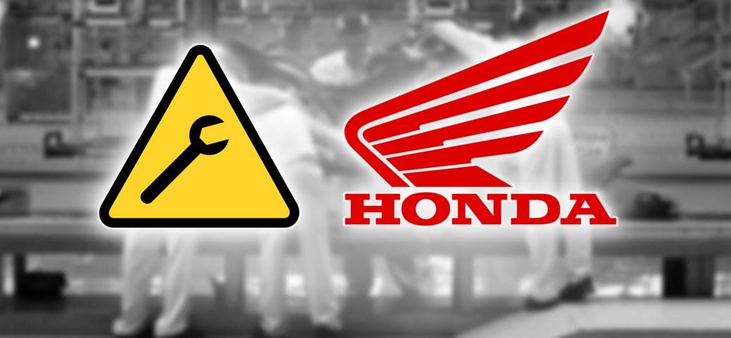 Rappel de Honda Motors Canada