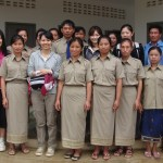 With teachers at Xiengkuang province