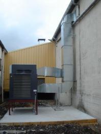 Centrale de traitement d'air autonome pour un entrepot chimique