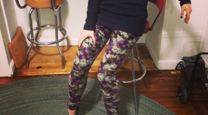 The time is never wrong for floral leggings