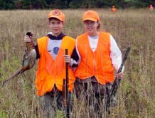 Some of the many youth enjoying Youth Pheasant Day at Kimberly Run