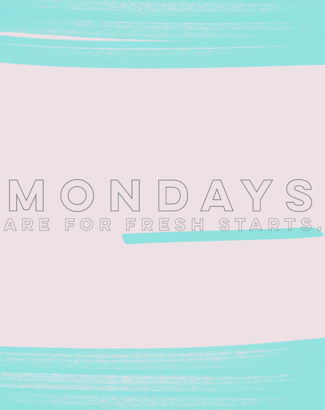 Something Sakura: Mondays are for Fresh Starts