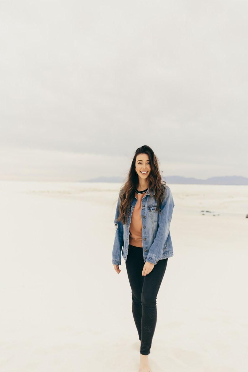 Something Sakura: White Sands, New Mexico