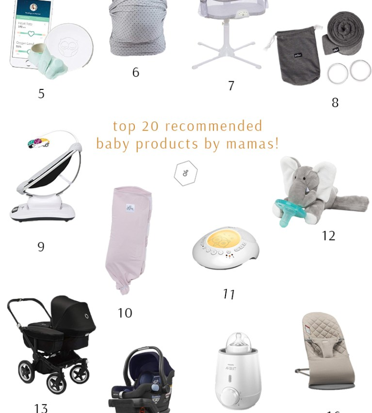 Top 20 recommended baby products