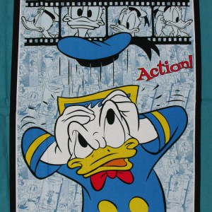 Quilting Patchwork Fabric Sewing Cotton DONALD DUCK DISNEY Panel 90x110cm New Material www.somethingscountry.com.au