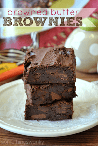 Browned Butter Brownes are seriously the best brownies I've ever had! Super decadent, but I could still eat an entire pan. #brownies #recipe
