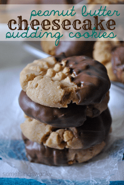 peanut Butter cheesecake pudding cookies