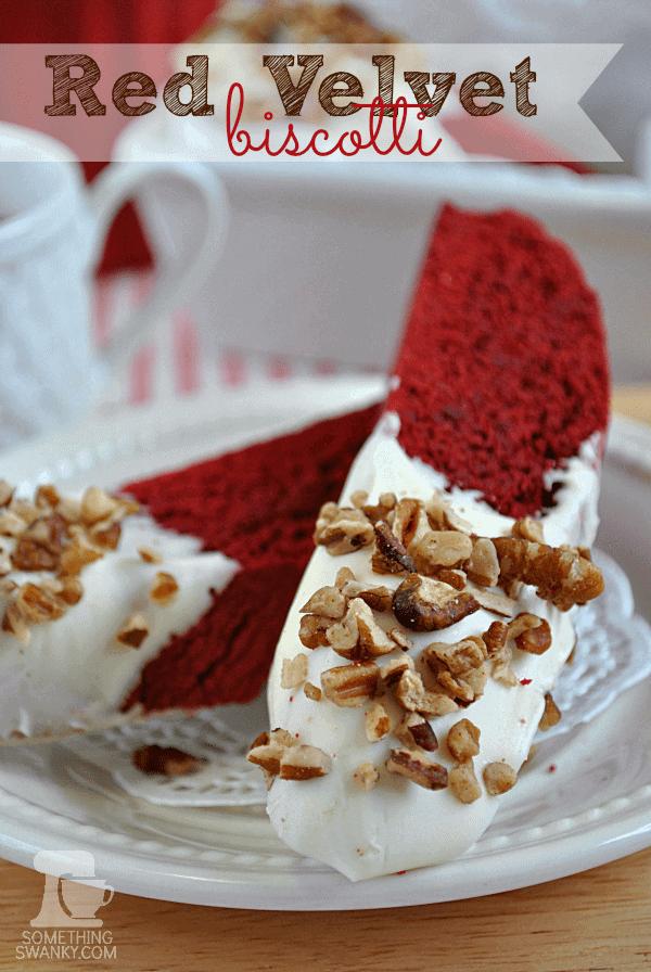 Red Velvet Biscotti www.somethingswanky.com #redvelvet #valentines #biscotti