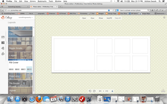 Facebook Collage Template #picmonkey www.somethingswanky.com